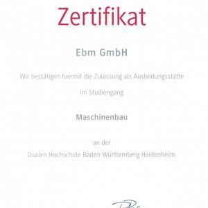Zertifikat Duales Studium